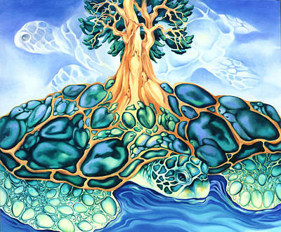 Turtle Island Print by Marcia Snedecor