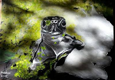 Turtle Painting - Turtle by Judit Szalanczi