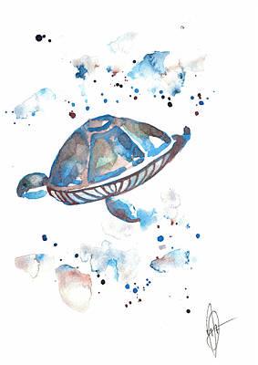 Drawing - Turtle by Julia Zoellner