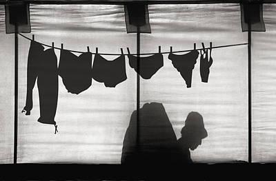 Laundry Photograph - Turtle Lady Sunbathing In Her Backyard by Yvette Depaepe