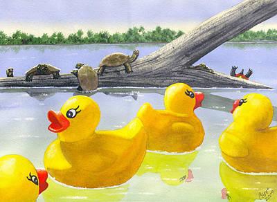 Turtle Log Print by Catherine G McElroy