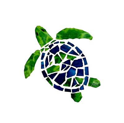 Glass Art - Turtle Mosaic Cut Out by Jan Marvin
