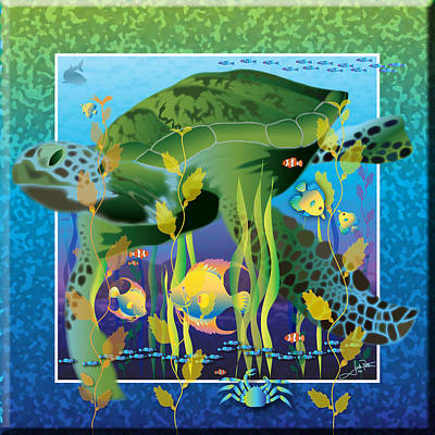 Wall Art - Painting - Turtle No Soup by Jack Potter