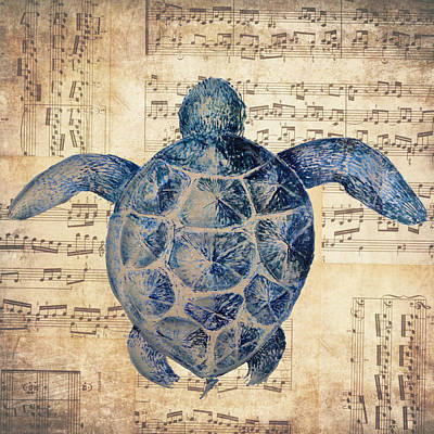 Sea Turtles Mixed Media - Turtle Notes by Marilu Windvand