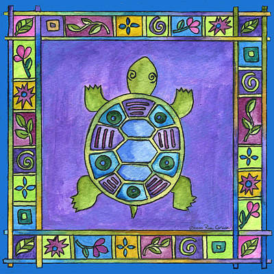 Painting - Turtle by Pamela  Corwin