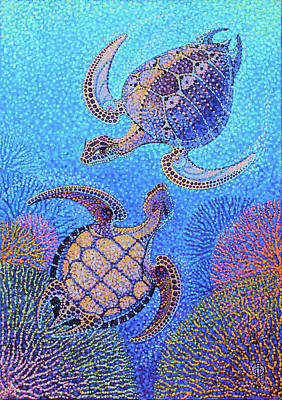 Tantra Painting - Turtle by Polina Ogiy