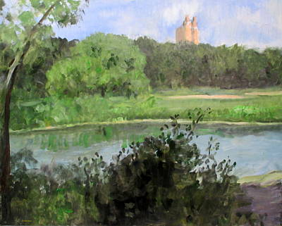 Painting - Turtle Pond In Central Park by Robert Holden