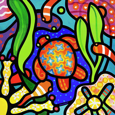 Painting - Turtle Reef by Steven Scott