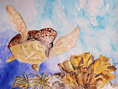 Painting - Turtle Soar by Patricia Beebe