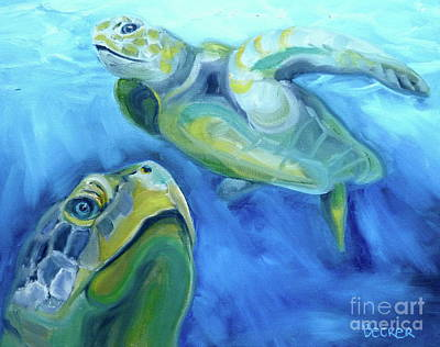 Reptiles Royalty-Free and Rights-Managed Images - Turtle Study by Susan A Becker