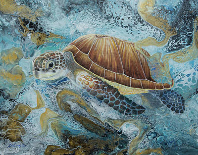 Painting - Turtle Surprise by Dee Carpenter