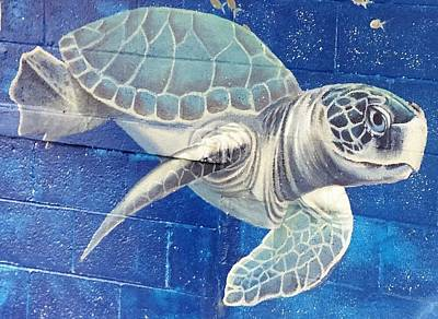 Painting - Turtle Swimming by Suzn Art Memorial