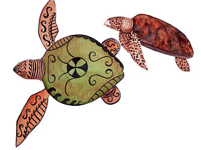 Painting - Turtle Tatt by Patricia Beebe
