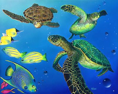 Turtle Towne Art Print by Angie Hamlin