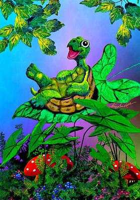 Turtle Trampoline Art Print by Hanne Lore Koehler