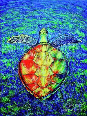 Painting - Turtle by Viktor Lazarev