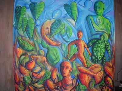 Turtle Walk Moon Original by William Fien