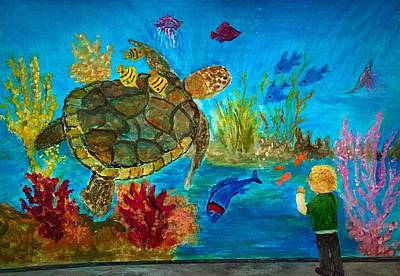Painting - Turtle Watch by Anne Sands