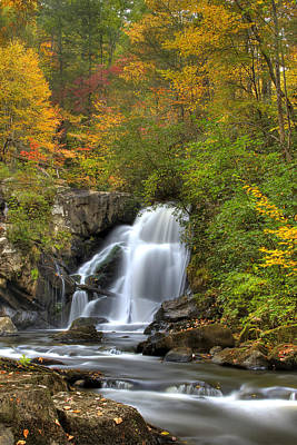 Lake Blue Ridge Photograph - Turtletown Creek Falls by Debra and Dave Vanderlaan