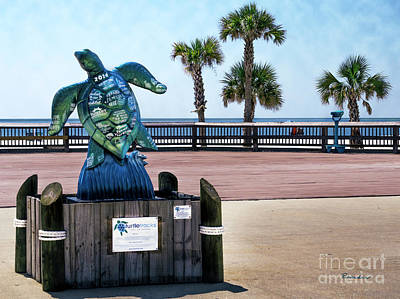 Photograph - Turtletracks Gulf Shores Orange Beach Al Seascape 1561a by Ricardos Creations