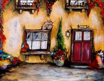 Painting - Tuscan 341 Red Door by Chuck Kemp