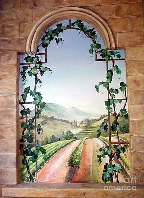Tuscan Hills Painting - Tuscan Arch by Barbara Wilson