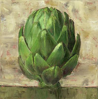 Cafes Painting - Tuscan Artichoke by Pam Talley