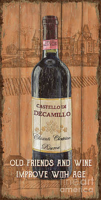 Wine Grapes Painting - Tuscan Chianti 1 by Debbie DeWitt