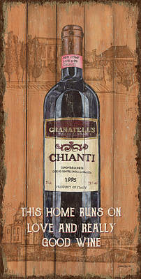 Wine Grapes Mixed Media - Tuscan Chianti 2 by Debbie DeWitt