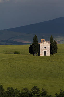 Photograph - Tuscan Church by Roger Mullenhour