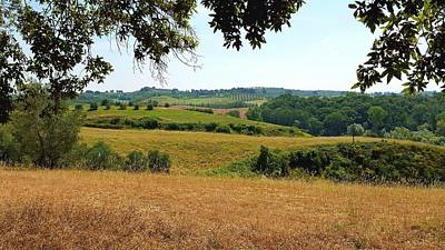 Photograph - Tuscan Country by Valentino Visentini