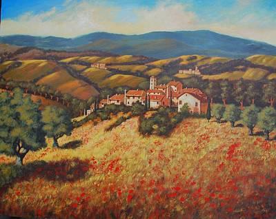 Tuscan Countryside Art Print by Santo De Vita