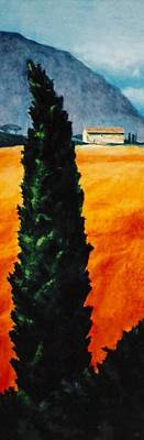 Painting - Tuscan Cypress by Keith Gantos