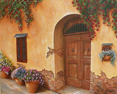 Tuscan Village Painting - Tuscan Doorway by Debra Dickson & Tuscan Village Paintings (Page #7 of 8)   Fine Art America