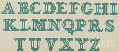 Alphabet Drawing - Tuscan by English School