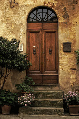 Outside Photograph - Tuscan Entrance by Andrew Soundarajan