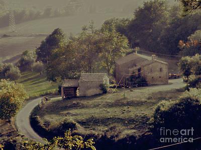 Negative Space - Tuscan Farmhouse by Karen Lewis