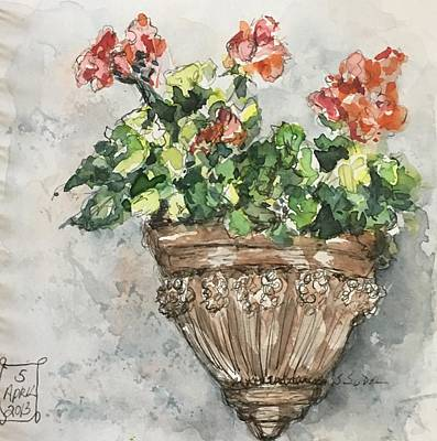 Painting - Tuscan Floral by Stephanie Sodel