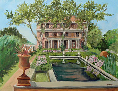 Nature Center Painting - Tuscan Garden, Snug Harbor, S.i. by Mafalda Cento