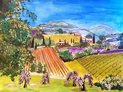 Tuscan Hills Painting - Tuscan Hills by Jacqueline Larson