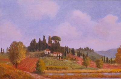Tuscan Hillside Art Print by David Olander