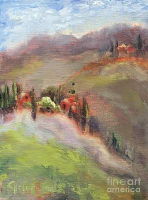 Painting - Tuscan Hillside by Kathy Lynn Goldbach