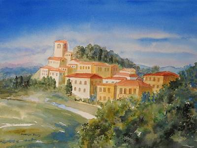 Tuscan Hilltop Village Art Print by Marilyn Young