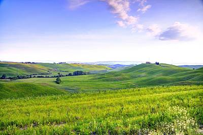 Tuscan Landscape In The Crete Senesi Art Print by Valter Giumetti