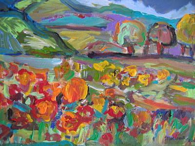Tuscan Landscape Art Print by Marlene Robbins