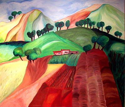 Art Print featuring the painting Tuscan Landscape by Patricia Arroyo