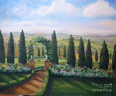 Tuscan Landscape Original by Sherrill Hull