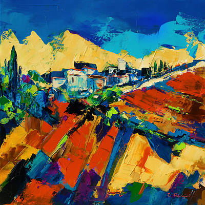 Tuscan Sunset Painting - Tuscan Light by Elise Palmigiani