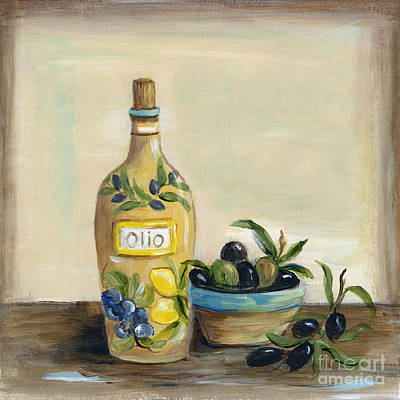 Ceramics Painting - Tuscan Olive Oil  by Marilyn Dunlap