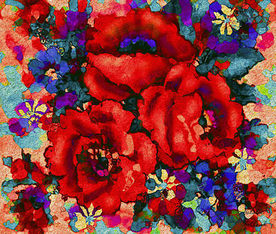 Painting - Tuscan Poppies by Natalie Holland